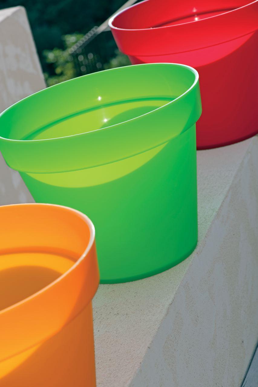 Pots en polypropylène coloré