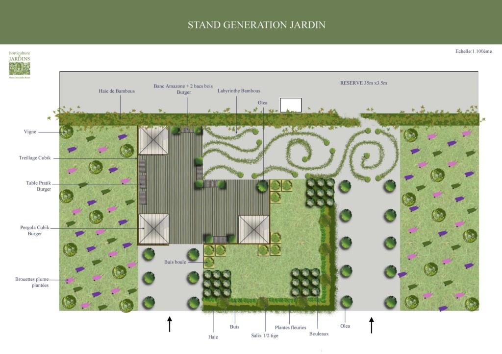 Plan du stand Pause Jardin à la Foire de Paris 2011