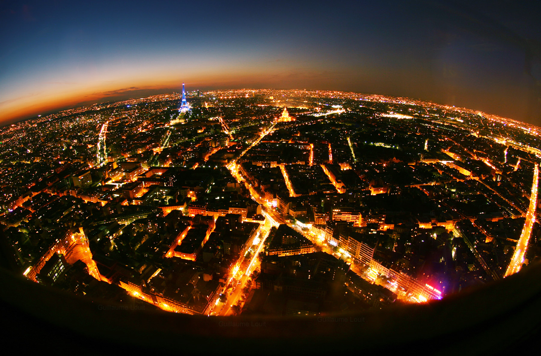 Paris by night vue de la Tour Montparnasse