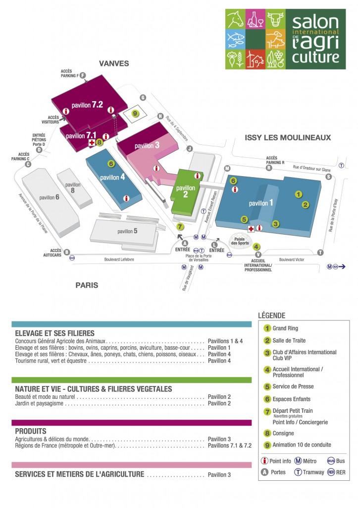 Plan du Salon International de l'Agriculture 2012