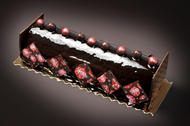 Bûche Pralus au chocolat Chuao, photo Pralus