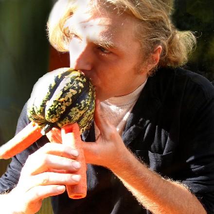 Joueur de flûtes multi légumes