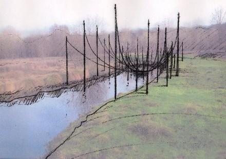 Land Art, installation de Nils-Udo dans le Domaine départemental de Méréville