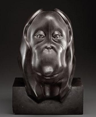 Tête d'orang-outang, François Pompon, photo RMN / A. Morin / Gallimard