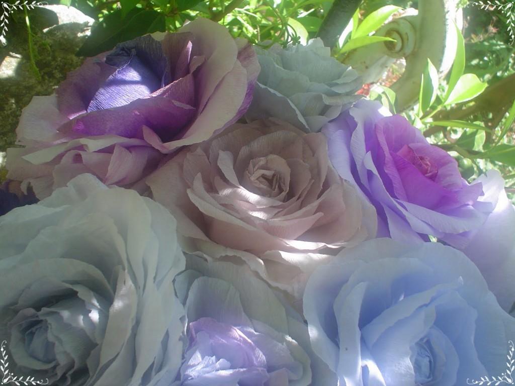 Roses en papier, créations Janny Van Der Vliet