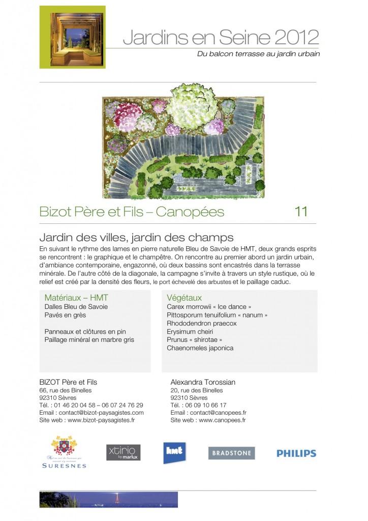 Salon Jardins en Seine 2012 / Bizot Père & Fils et Canopées