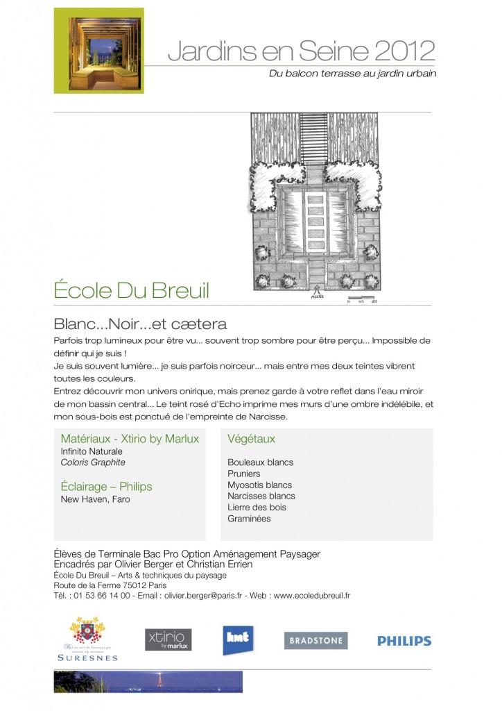 Salon Jardins en Seine 2012 / École du Breuil