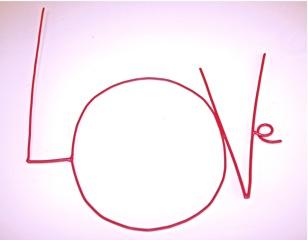 LOVE, lettres épaisses, 18 euros la lettre, création Zoé Rumeau