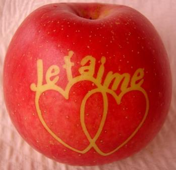 Fruit marqué : pomme