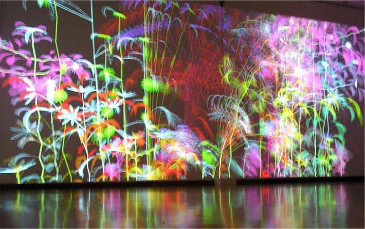 Création numérique de Miguel Chevalier
