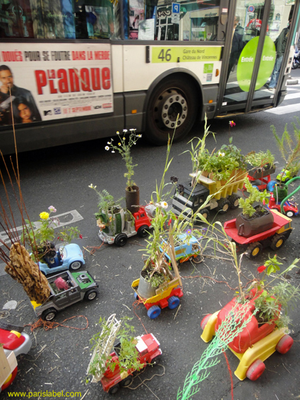 Parking Day avec bus, photo Paris Label