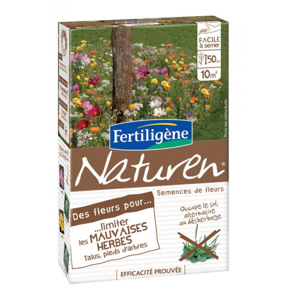 Des fleurs pour limiter les mauvaises herbes aux pieds des arbres et dans les talus