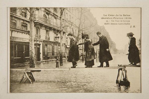 L'inondation de Paris en 1910